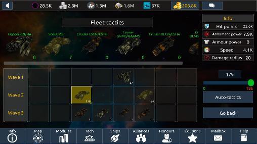 Online Infinite universe mobile für das Smartphone