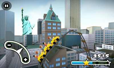 Unusual 3D Rollercoaster Rush. New York in English