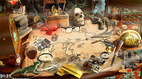 Abenteuer-Spiele Treasure hunt hidden objects adventure game für das Smartphone