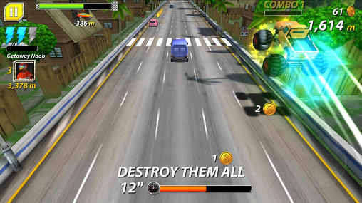 Road: Car chase. Outta lane en français