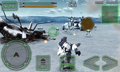 Third-person shooter Destroy Gunners SP II:  ICEBURN in English