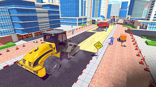Excavator digging: Road construction simulator 3D captura de pantalla 3
