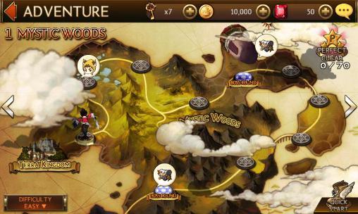 Strategie RPG Seven knights auf Deutsch