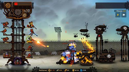 Strategiespiele Steampunk tower 2 für das Smartphone