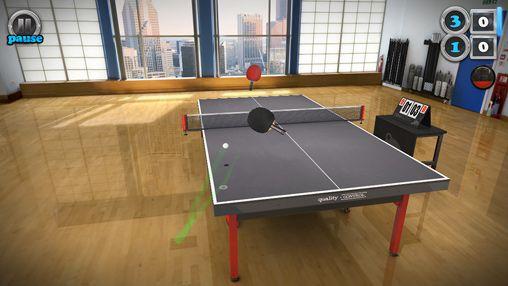Table de tennis tactile pour iPhone