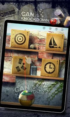 Physics games Can Knockdown 2 in English