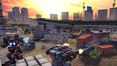 Actionspiele Robot warfare: Battle mechs für das Smartphone