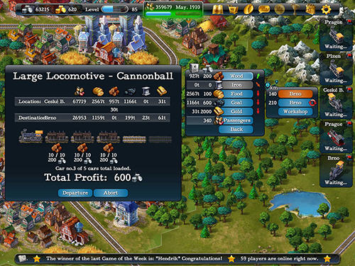 Steampower 1830: Railroad tycoon Screenshot