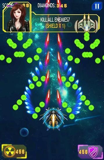 Flugspiele Galaxy wars: Space defense auf Deutsch