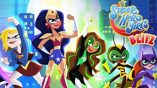 logo DC chicas superhéroes blitz