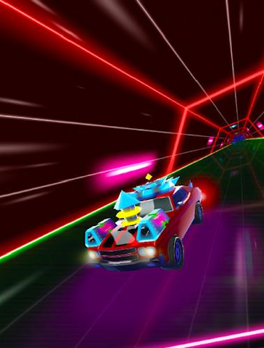 Neon drift: Retro arcade combat race in English