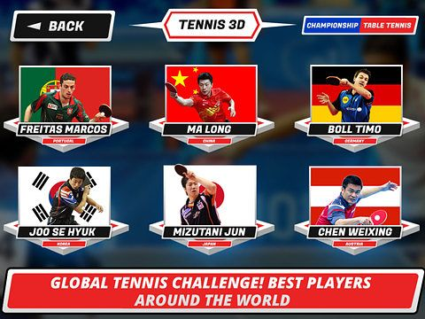Screenshot Tischtennis 3D: Virtuelle Meisterschaft auf dem iPhone