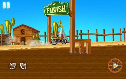 Arcade-Spiele Wild west race für das Smartphone