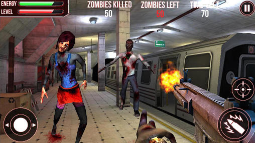 Subway zombie attack 3D скриншот 1