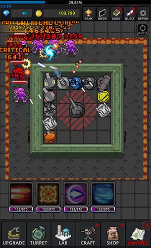 d'arcade Grow turret: Idle clicker defense pour smartphone