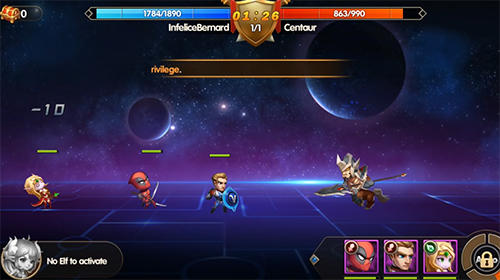 Strategie RPG Super heroes galaxy: Olympus rising auf Deutsch
