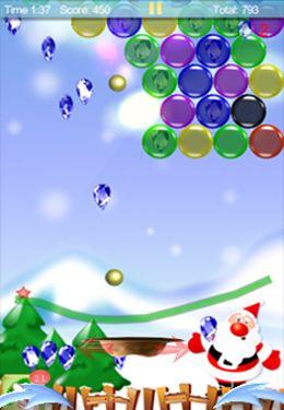 Zauberhafter Finger: Weihnachtskugeln Bubble für iPhone
