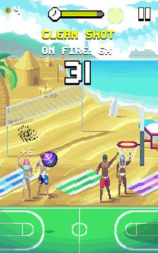 Arcade-Spiele: Lade Bouncy Hoops auf dein Handy herunter