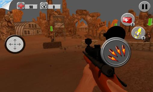 Desert sniper shooting Screenshot