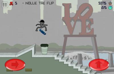 Arcade-Spiele: Lade Strichmännchen Skater auf dein Handy herunter