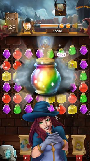 3 Gewinnt Witch castle: Magic wizards auf Deutsch