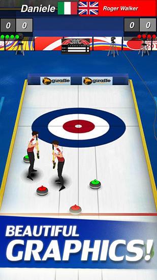 Curling 3D by Giraffe games limited Screenshot