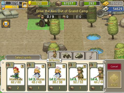 Online-Strategiespiele Pocket platoons auf Deutsch