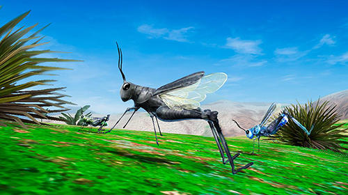 Grasshopper insect simulator in Russian