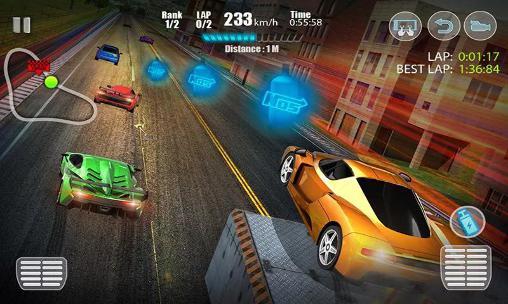 de courses Racing in city 3D pour smartphone