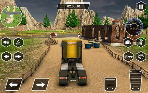 Simulation games Dr. Truck driver: Real truck simulator 3D for smartphone