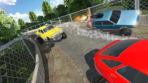 Rennspiele Battle cars online für das Smartphone