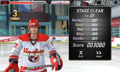 Juegos deportivos Ice Hockey - One Timer para teléfono inteligente