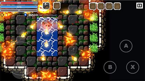 Plattformer Flame knight: Roguelike game auf Deutsch