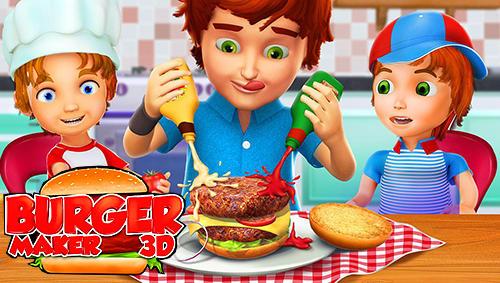 Burger maker 3D Symbol