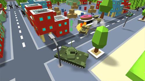 Action World of cartoon tanks für das Smartphone