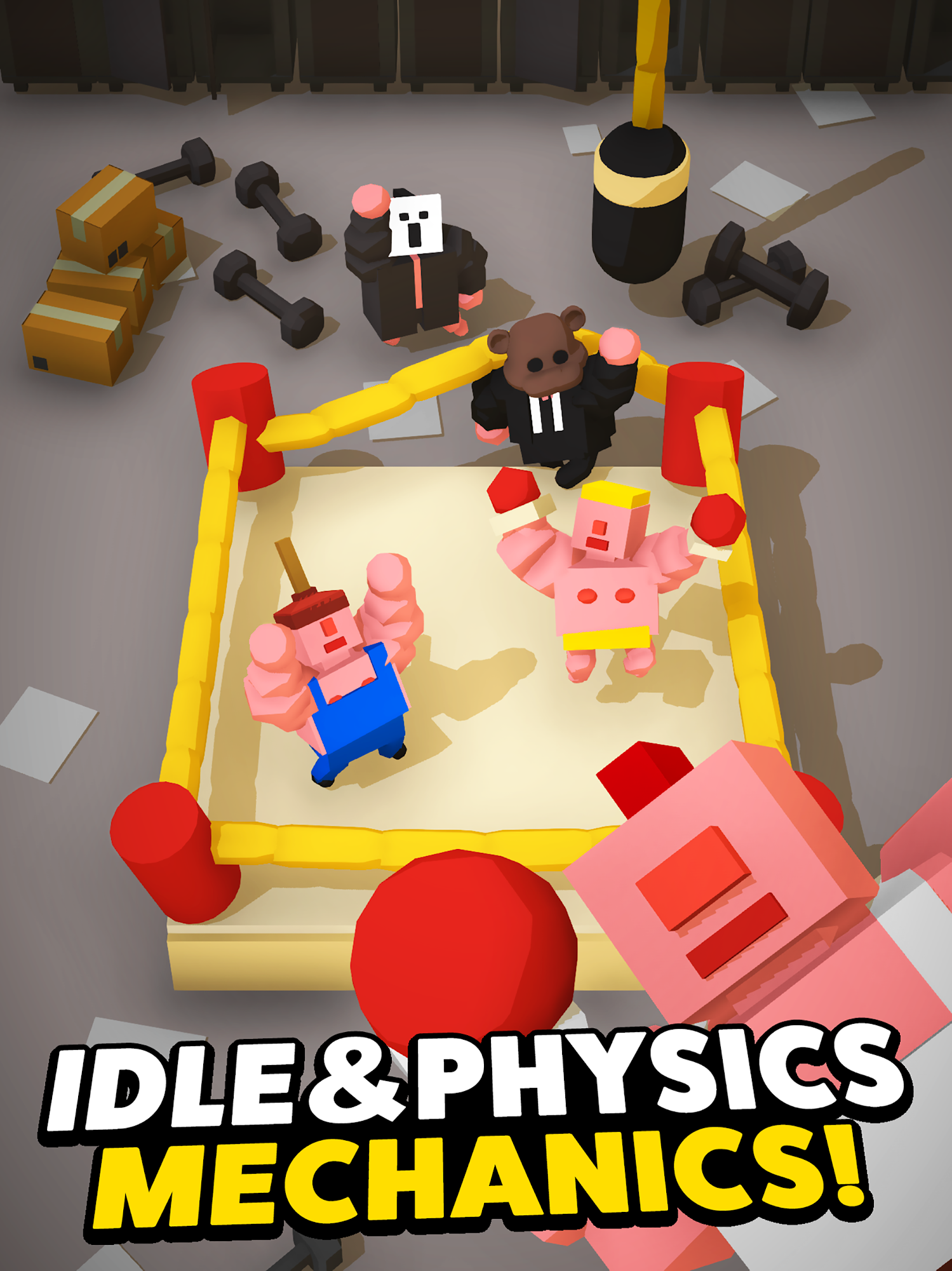 Idle Boxing - Idle Clicker Tycoon Game captura de pantalla 1