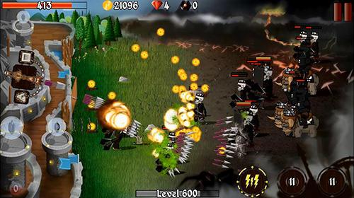 Grim defender: Castle and tower defense screenshot 1