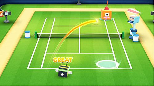 Tennis bits auf Deutsch