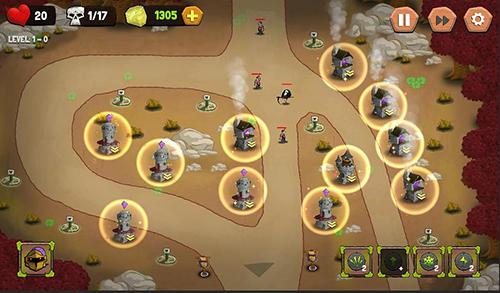 Strategie Tower defense: Castle fantasy TD für das Smartphone