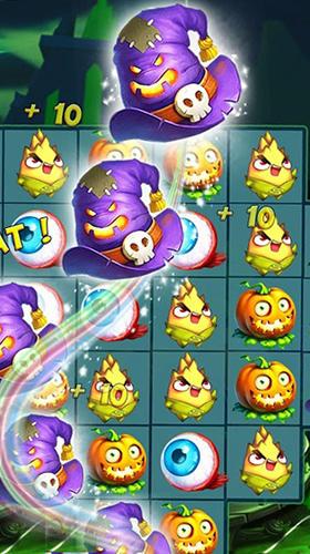 Arcade Halloween witch: Fruit puzzle für das Smartphone