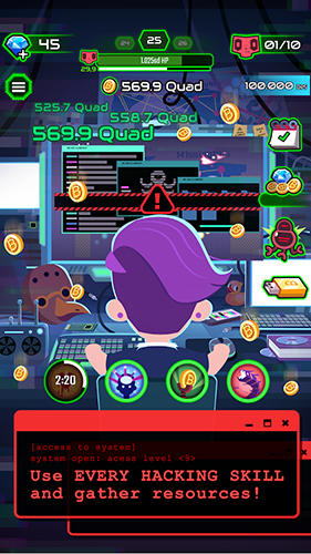 Hacking hero: Cyber adventure clicker для Android