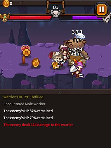 RPG-Spiele Warriors' market mayhem für das Smartphone
