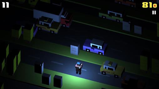 Crossy road in English