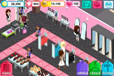 Simulation games Fashion story: Pool party for smartphone