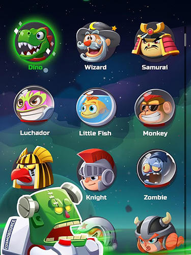 Arcade-Spiele Cosmo bounce: The craziest space rush ever! für das Smartphone