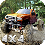 Monster truck offroad rally 3D Symbol