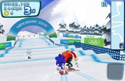 Sonic bei den olympischen Winterspielen auf Deutsch