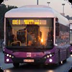 City bus driver 3D icône