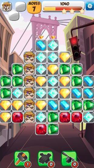 Jewels detective: Match 3 für Android