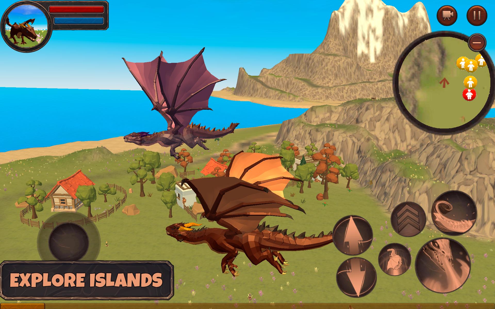Dragon Simulator 3D: Adventure Game スクリーンショット1